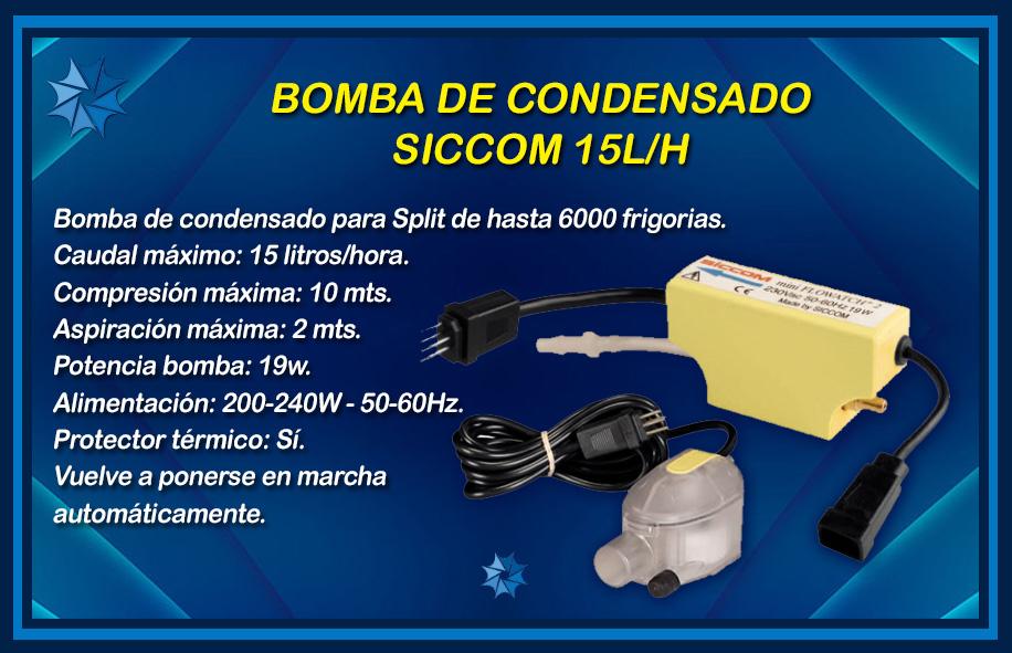 BOMBA DE CONDENSADO SICCOM descripción